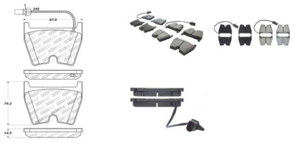 StopTech Sport Bremsbeläge RS3 8V / TT RS 8S / R8 8-Kolben (VA)