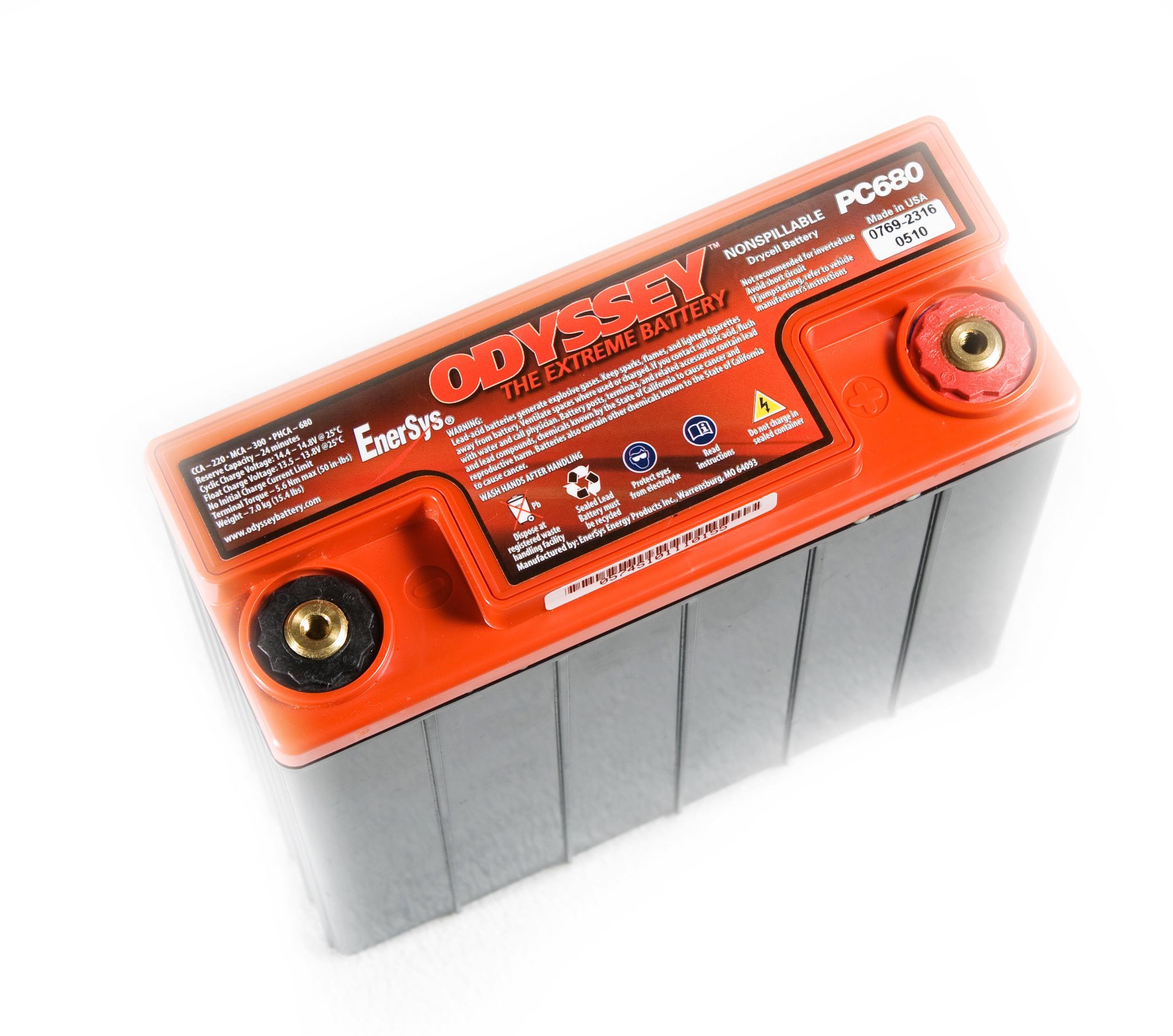 Racing Batterie - Odyssey PC 680 / USA