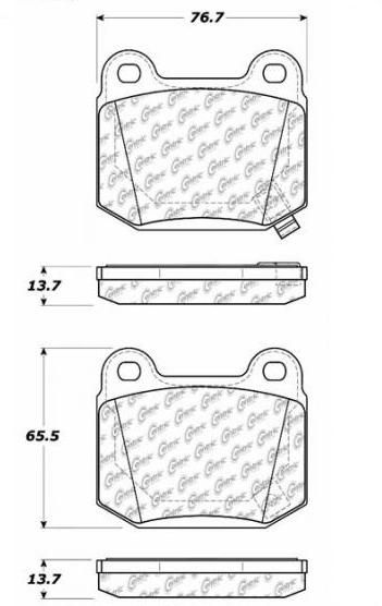 StopTech Sport Bremsbeläge für Mitsubishi Evo 5-9 (HA)