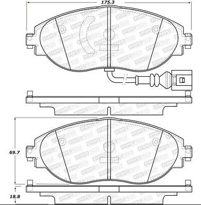 StopTech Sport Bremsbeläge Golf 7R / GTI / S3 (VA)